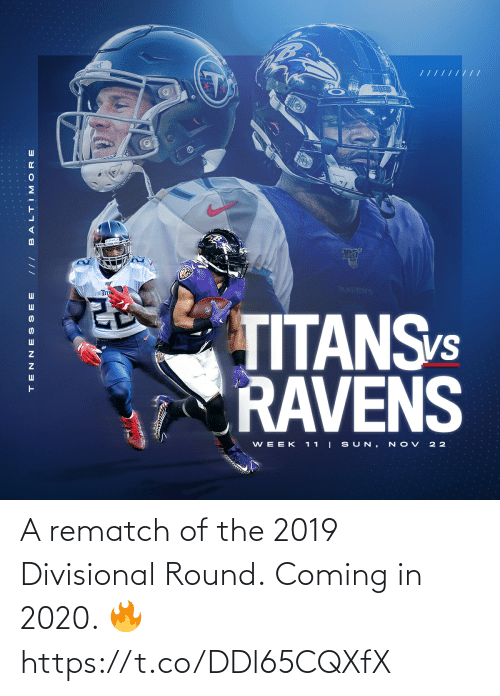 Coming In: A rematch of the 2019 Divisional Round.  Coming in 2020. 🔥 https://t.co/DDl65CQXfX