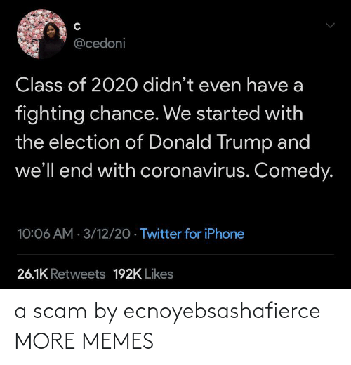 scam: a scam by ecnoyebsashafierce MORE MEMES