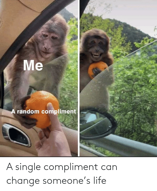 Single: A single compliment can change someone's life
