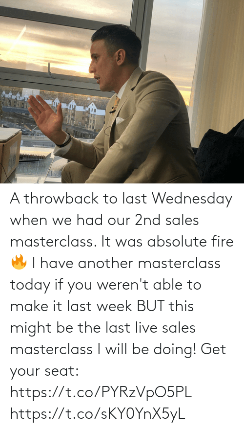 Wednesday: A throwback to last Wednesday when we had our 2nd sales masterclass. It was absolute fire 🔥   I have another masterclass today if you weren't able to make it last week BUT this might be the last live sales masterclass I will be doing!   Get your seat: https://t.co/PYRzVpO5PL https://t.co/sKY0YnX5yL