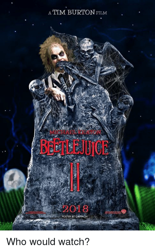 posterization: A TIM BURTON FILM  MIIAEL EATON  O18  POSTER BY CAMWGN Who would watch?