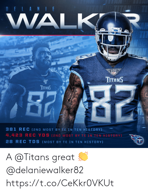 great: A @Titans great 👏 @delaniewalker82 https://t.co/CeKkr0VKUt