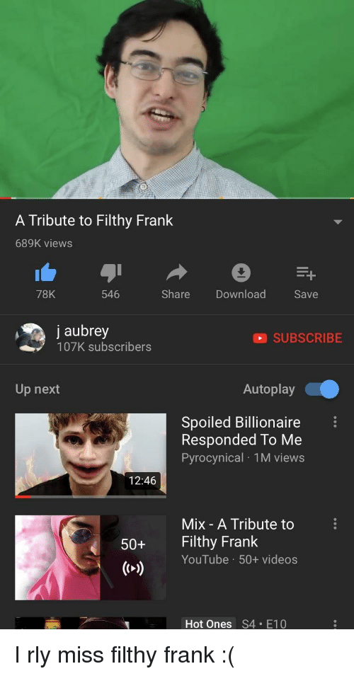 Image of: Laugh Funny Videos And Youtubecom Tribute To Filthy Frank 689k Views Trendolizer Tribute To Filthy Frank 689k Views 78k 546 Share Download Save
