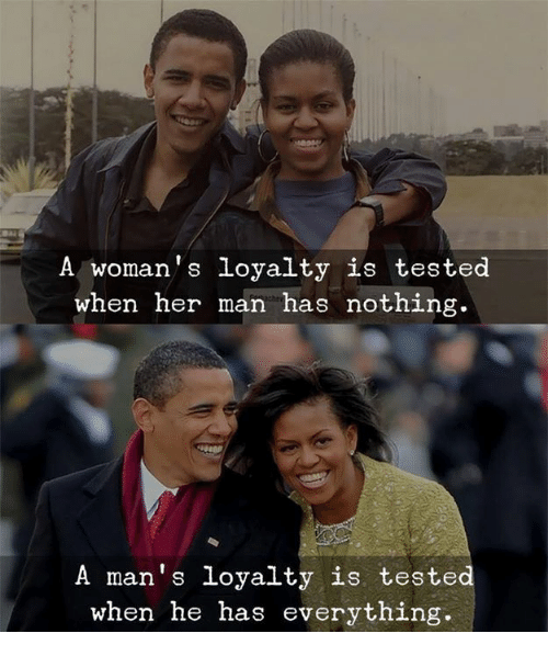 Her, Man, and Nothing: A woman's loyalty is tested  when her man has nothing.  A man's loyalty is tested  when he has everything.
