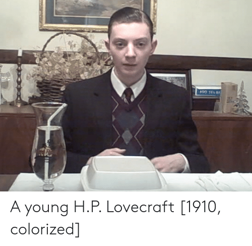 lovecraft: A young H.P. Lovecraft [1910, colorized]