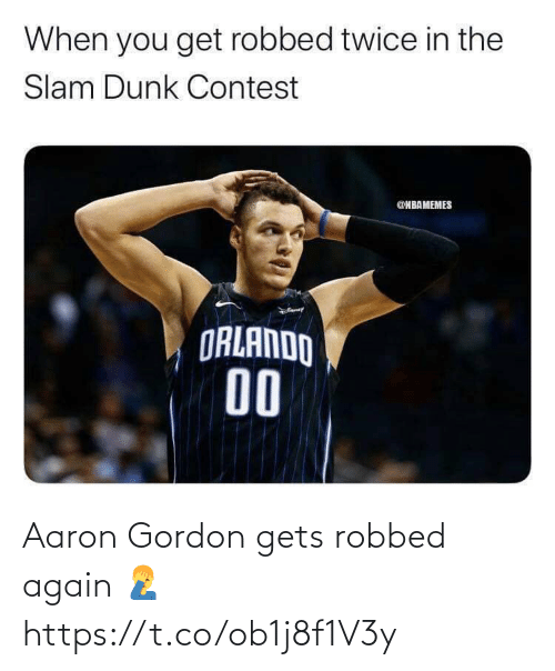 Gordon: Aaron Gordon gets robbed again 🤦‍♂️ https://t.co/ob1j8f1V3y