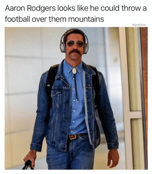 Aaron Rodgers, Football, and Nfl: Aaron Rodgers looks like he could throw  football over them mountains  drgrayfang
