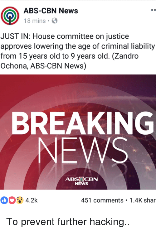 News Breaking And House ABS CBN 18 Mins JUST IN