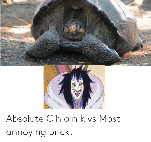 MemePiece, Annoying, and Prick: Absolute C h o n k vs Most annoying prick.