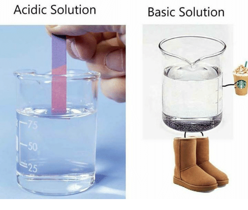 Basicness: Acidic Solution  Basic Solution  50  25