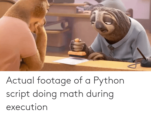 Actual Footage: Actual footage of a Python script doing math during execution