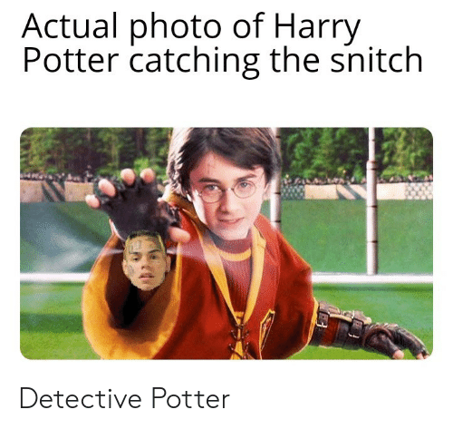 Harry Potter: Actual photo of Harry  Potter catching the snitch Detective Potter