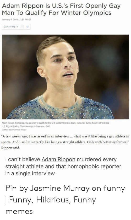 Adam Rippon Is Uss First Openly Gay Man To Qualify For