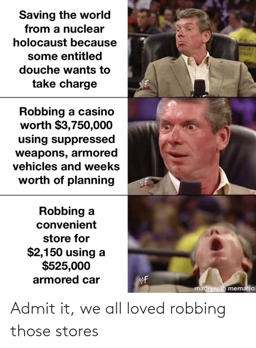 Robbing: Admit it, we all loved robbing those stores