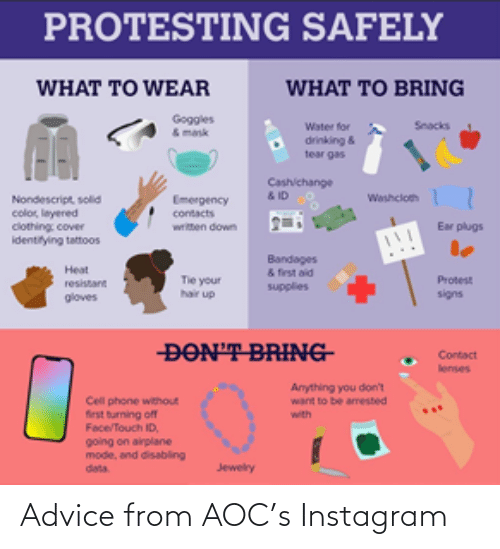 aoc: Advice from AOC's Instagram
