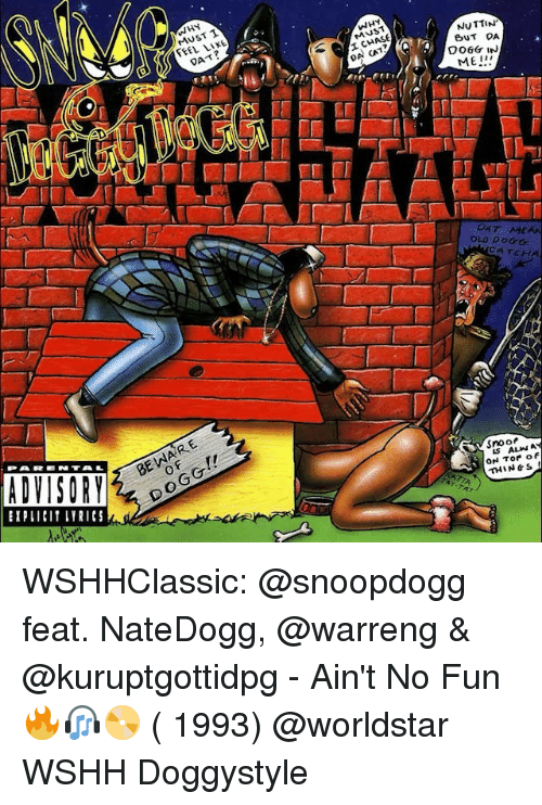 Memes, 🤖, and Tor: ADVISORY  UST T  JS  NUTTIN'  BUT DA  DO6Gr IN  OLD DOGG  CATCH  Snoo  ALMN  ON Tor of  THIN WSHHClassic: @snoopdogg feat. NateDogg, @warreng & @kuruptgottidpg - Ain't No Fun 🔥🎧📀 ( 1993) @worldstar WSHH Doggystyle
