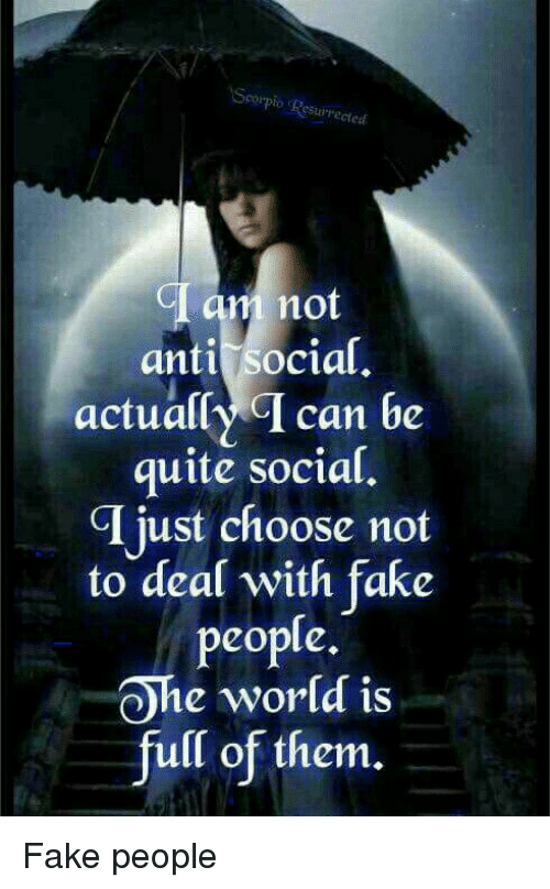 Aesrect Am Not Anti Social Actually T Can Be Quite Social T Just