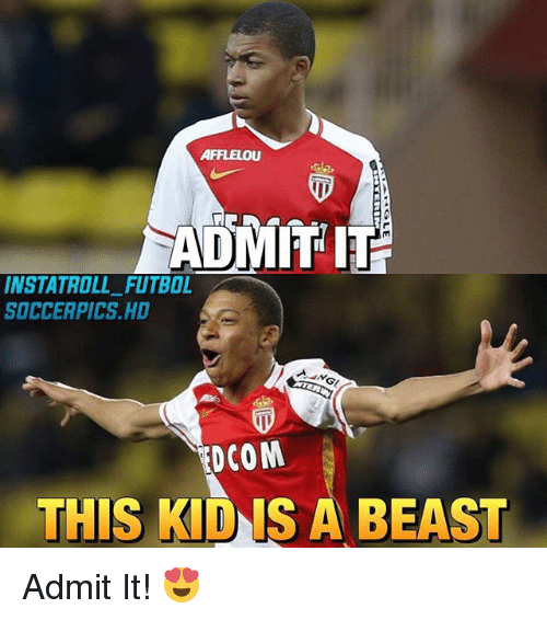 Beastly: AFFLELOU  ADMIT IT  INSTA TROLL FUTBOL  SOCCERPICS HD  DCOM  THIS KlDIS A BEAST Admit It! 😍