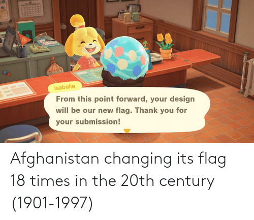 Afghanistan: Afghanistan changing its flag 18 times in the 20th century (1901-1997)