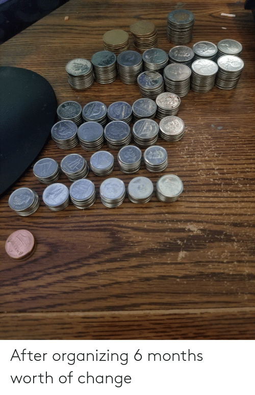 Organizing: After organizing 6 months worth of change