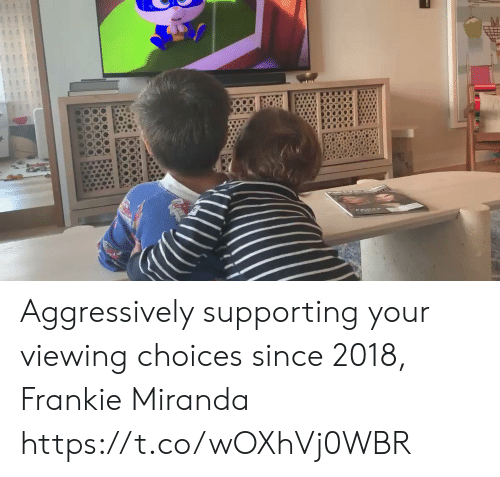 choices: Aggressively supporting your viewing choices since 2018, Frankie Miranda https://t.co/wOXhVj0WBR