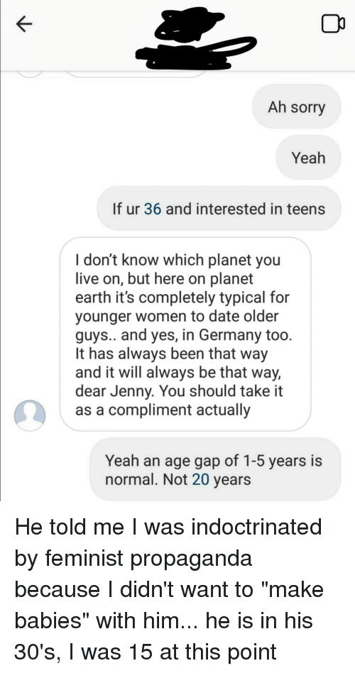 Normal dating age gap