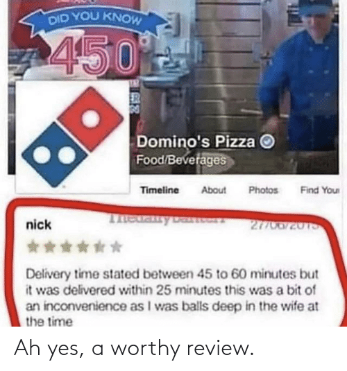 review: Ah yes, a worthy review.