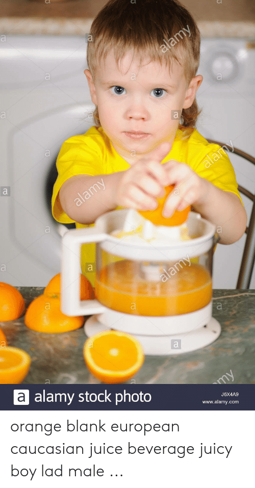 Orange Lad: alamy  a  alamy  alamy  alamy  a alamy stock photo  my  J6X4A9  www.alamy.com orange blank european caucasian juice beverage juicy boy lad male ...