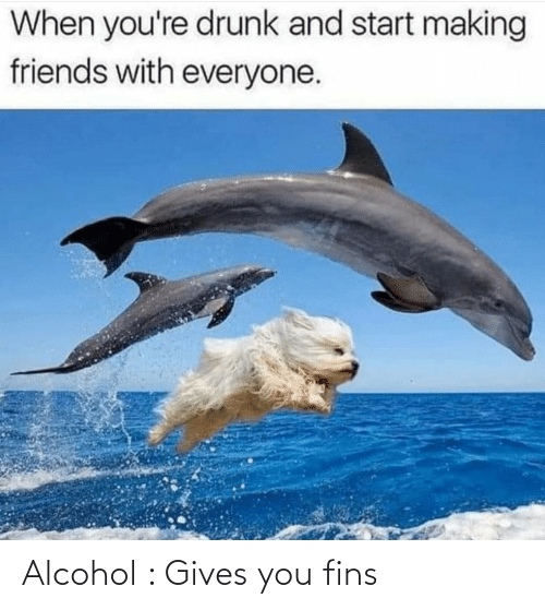 Gives: Alcohol : Gives you fins