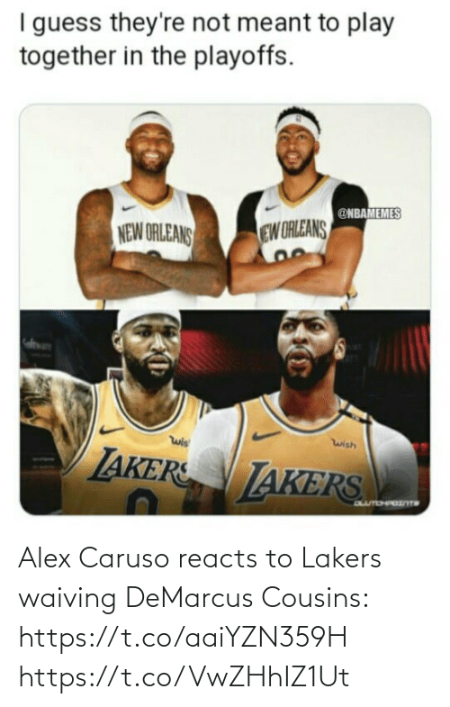 DeMarcus Cousins: Alex Caruso reacts to Lakers waiving DeMarcus Cousins: https://t.co/aaiYZN359H https://t.co/VwZHhIZ1Ut
