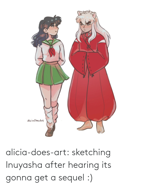 Art Tumblr: alicia-does-art:  sketching Inuyasha after hearing its gonna get a sequel :)