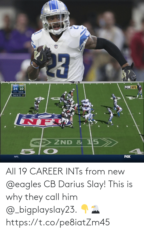 why: All 19 CAREER INTs from new @eagles CB Darius Slay!   This is why they call him @_bigplayslay23. 👇🦅 https://t.co/pe8iatZm45