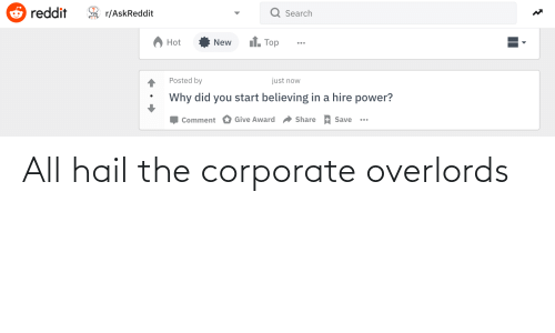 corporate: All hail the corporate overlords