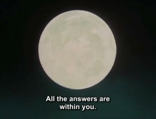 All The, Answers, and All: All the answers are  within you.
