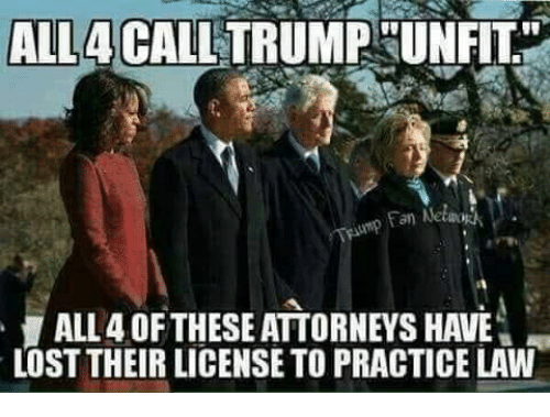 """attorneys: ALL4 CALLTRUMP UN  FIT""""  an Netwo  ALL 4 OFTHESE ATTORNEYS HAVE  LOST THEIR LICENSE TO PRACTICE LAW"""