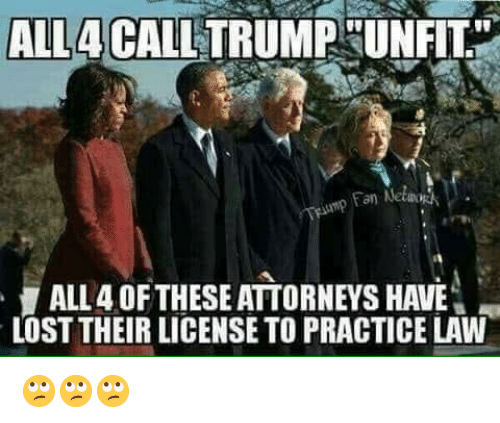 """attorneys: ALL4CALL TRUMPHUNFIT""""  an Netwo  ALL 4 OFTHESE ATTORNEYS HAVE  LOST THEIR LICENSE TO PRACTICE LAW 🙄🙄🙄"""