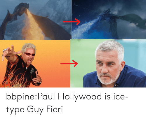 hollywood: allte bbpine:Paul Hollywood is ice-type Guy Fieri