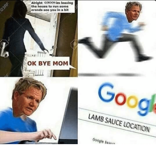 Lamb Sauce: Alright  GORDON im leaving  the house to run some  erands see you in a bit  OK BYE MOM  LAMB SAUCE LOCATON