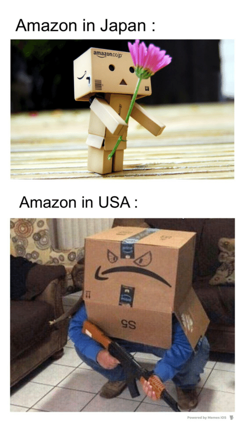 usa: Amazon in Japan :  amazon.co.jp  Amazon in USA :  S5  Powered by Memes ios  D.  dfoou