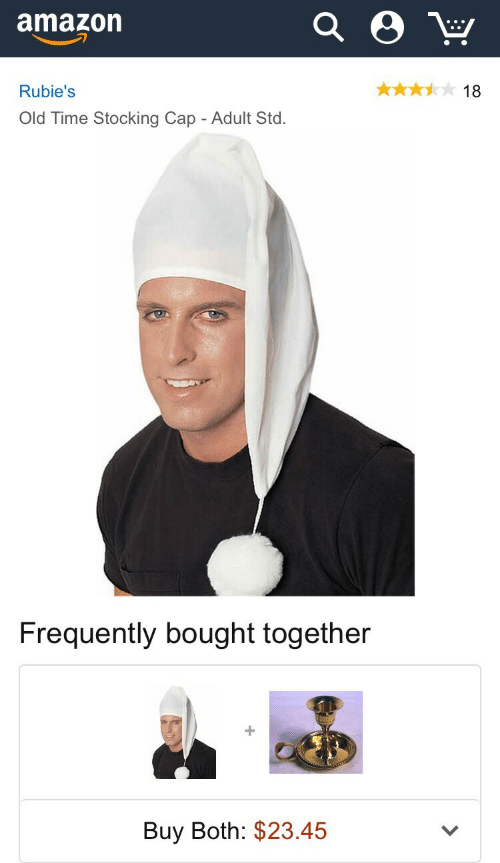std: amazon  Rubie's  18  Old Time Stocking Cap - Adult Std.   Frequently bought together  Buy Both: $23.45