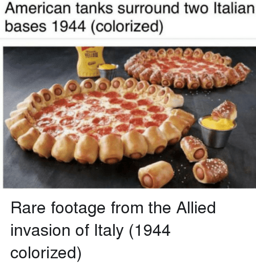 American, Italy, and Rare: American tanks surround two ltalian  bases 1944 (colorized) Rare footage from the Allied invasion of Italy (1944 colorized)