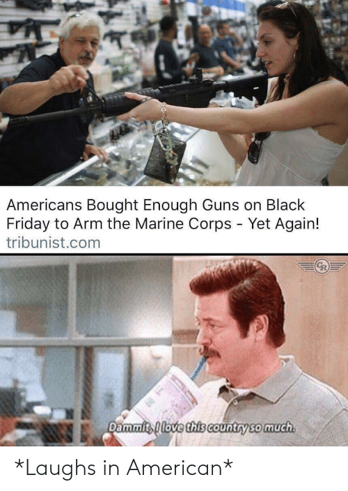Dammits: Americans Bought Enough Guns on Black  Friday to Arm the Marine Corps - Yet Again!  tribunist.com  Dammits love this Country so much *Laughs in American*