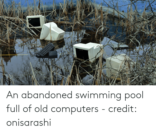 Computers: An abandoned swimming pool full of old computers - credit: onisarashi