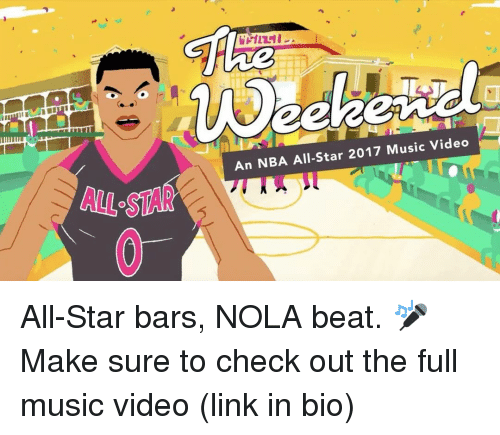 nba all stars: An NBA All-Star 2017 Music Video All-Star bars, NOLA beat. 🎤 Make sure to check out the full music video (link in bio)
