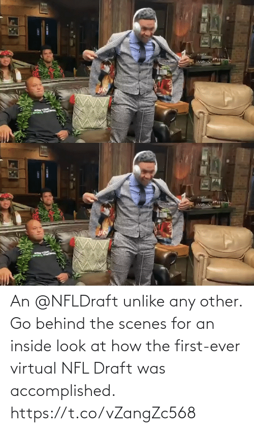 NFL draft: An @NFLDraft unlike any other.  Go behind the scenes for an inside look at how the first-ever virtual NFL Draft was accomplished. https://t.co/vZangZc568