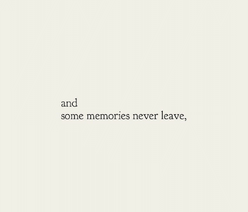 Never Leave: an  some memories never leave,