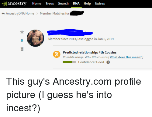 Ancestry Home Trees Search DNA Help Extras Ome Member Since
