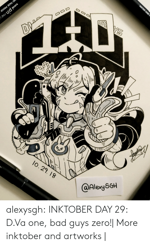 Dva: AND  lo. 29. 18  @AlexySGH alexysgh:  INKTOBER DAY 29: D.Va one, bad guys zero!| More inktober and artworks |
