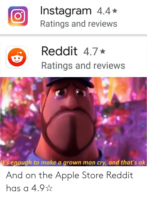 Apple Store: And on the Apple Store Reddit has a 4.9☆