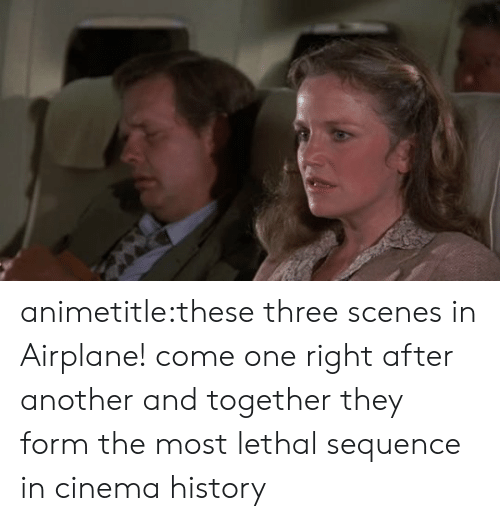 Target, Tumblr, and Airplane: animetitle:these three scenes in Airplane! come one right after another and together they form the most lethal sequence in cinema history